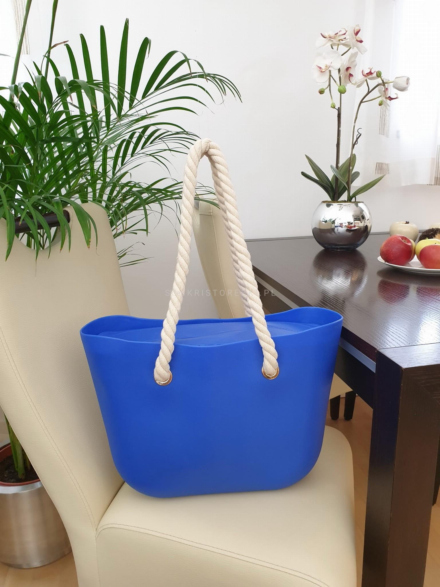 JORDAN torebka damska gumowa jelly bag plecione rączki V002 czerwona