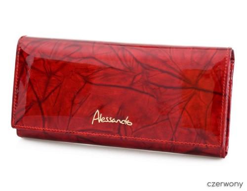 1f977943ea76e ALESSANDRO PAOLI portfel skórzany lakier P014 czerwony kristorebki.pl